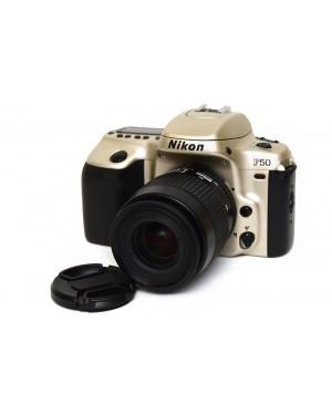 FOTOCAMERA REFLEX A PELLICOLA NIKON F50 CON 35-80MM F/4-5.6 SILVER
