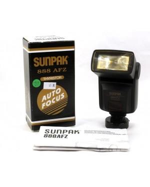 Sunpak Flash 888 AFZ Thyristor AutoFocus Universale No Digitali Perfetto In Box