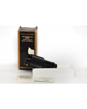 Pentax-Soligor 70-222mm F3.5 Pentax K Mount Multicoated Zoom and Macro Apertura Fissa 3.5-20
