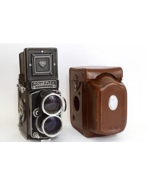 Rolleiflex-Rollei Tele-Rolleiflex TLR Biottica con Sonnar 135 / 4 e borsa Originale Rara Mint-20