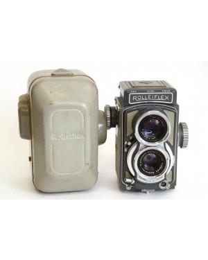 Rolleiflex-Rolleiflex BABY TLR 4x4 con Xenar 60/3.5 + Custodia NUMERO DI SERIE: 2014786-20