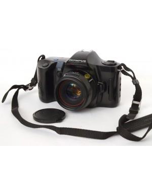 Olympus-Olympus OM101 Power Focus + 50mm F2 con Tappo e Cinghia a Tracolla-20