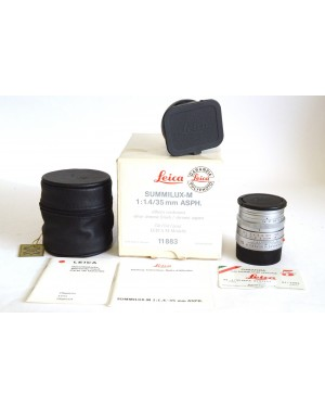 Leica-Leica 11883 Summilux-M 35mm F 1.4 ASPh. Chrome ex Demo Nuovo da Vetrina-20