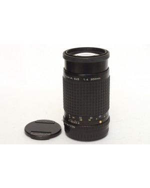 Pentax-Smc Pentax-A 645 200mm F4 Con Tappi In eccelenti condizioni. Funziona bene.-10