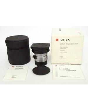 Leica-Leica 11897 Leitz 21mm F2.8 ELMARIT-M Asph. Silver Scatolato con Documenti-10