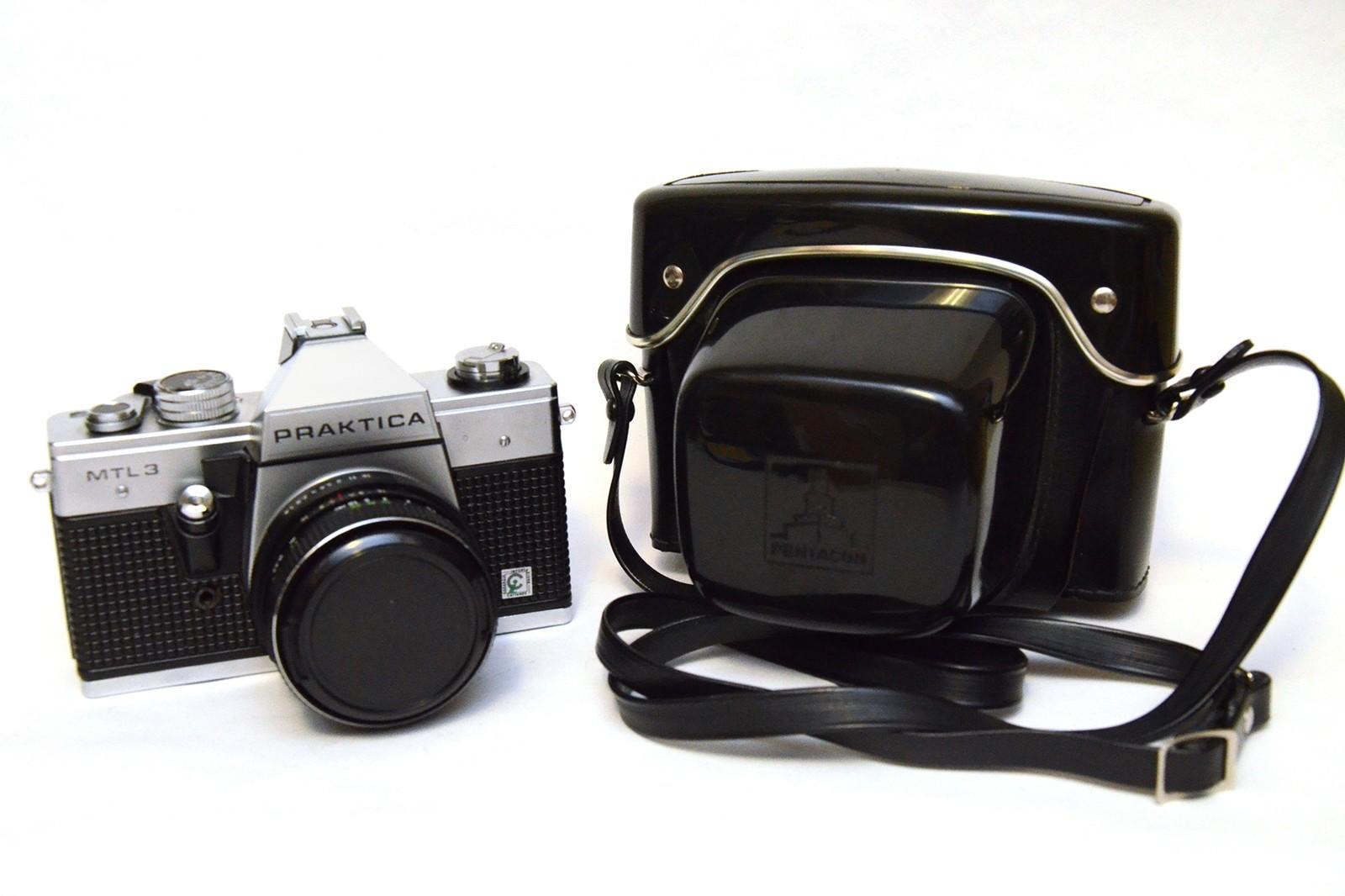Praktica mtl with pentacon auto mm f camera in
