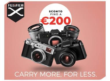 Fujifilm sconto fino a 200€