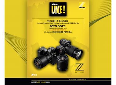 Francesco Francia relatore del Nikon Live!