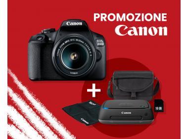 Promozione Canon EOS 2000D + omaggi