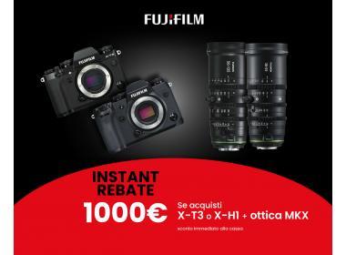 Fuji Instant Rebate X-T3 e X-H1 con MKX