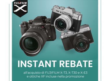 Fujifilm Instant Rebate X-T3, X-T30, X-E3 e ottiche XF